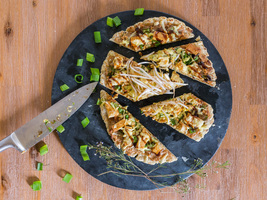 Thai Tofu Pizza on Flatbread Crust (Vegan & Gluten-Free)