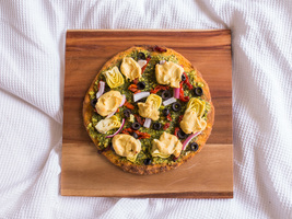 Gourmet Pesto Pizza With Cashew Cheese Sauce (Vegan & Gluten-Free!)