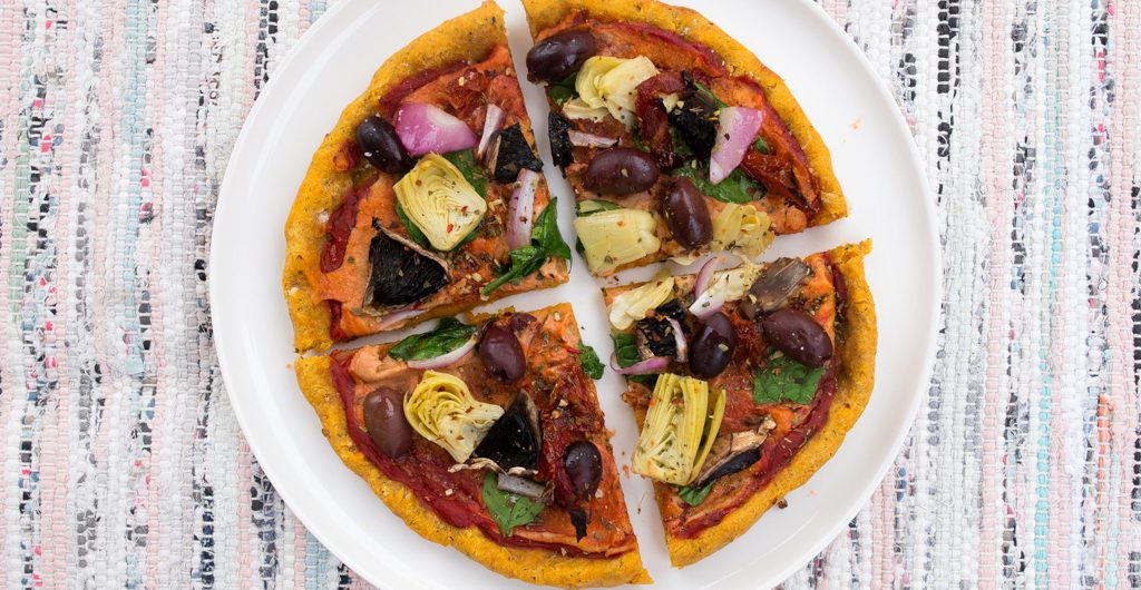 Italian Mediterranean With Cashew Cheese Sauce (Vegan & Gluten-Free!)