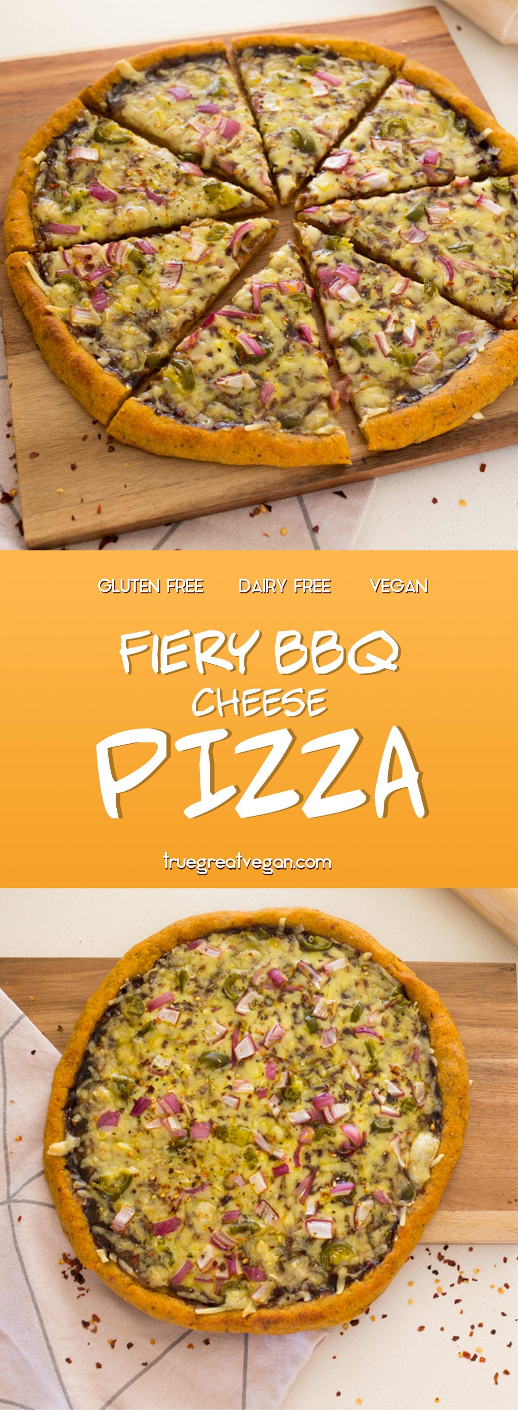 Pinterest - Fiery BBQ Cheese Pizza (Vegan & Gluten-Free!)